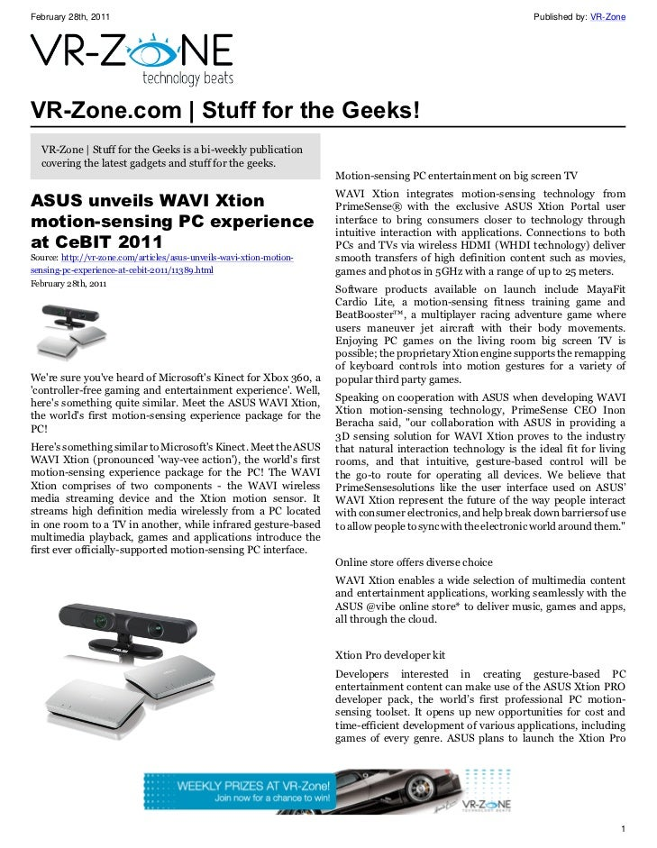 VR-Zone Technology News | Stuff for the Geeks! Issue #7