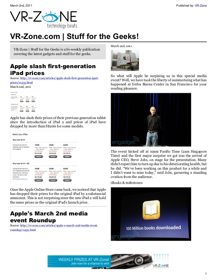 VR-Zone Technology News | Stuff for the Geeks! Issue #8