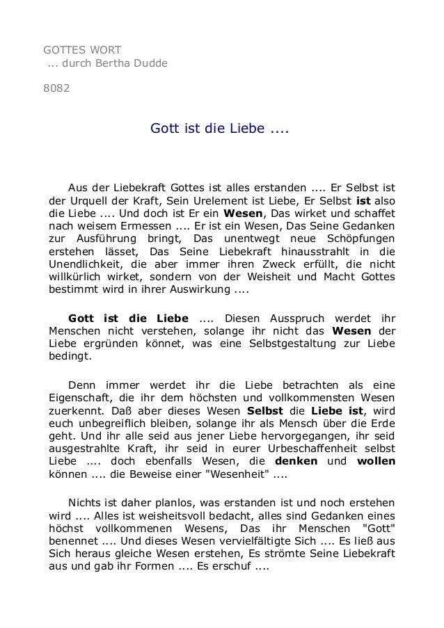 GOTTES WORT ... durch Bertha Dudde 8082 Gott ist die Liebe .... Aus der Liebekraft Gottes ist alles erstanden .... Er Selb...