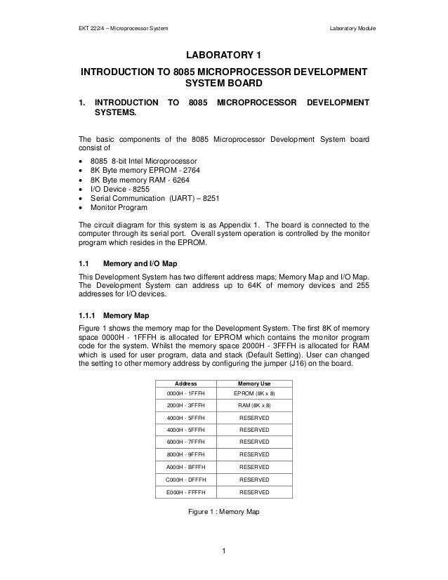 EKT 222/4 – Microprocessor System                                          Laboratory Module                              ...