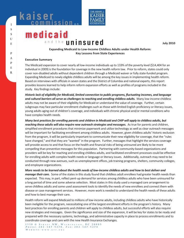 k aios e ri s s i o n        c mm                                   on I S S U       medicaid E                      and t...