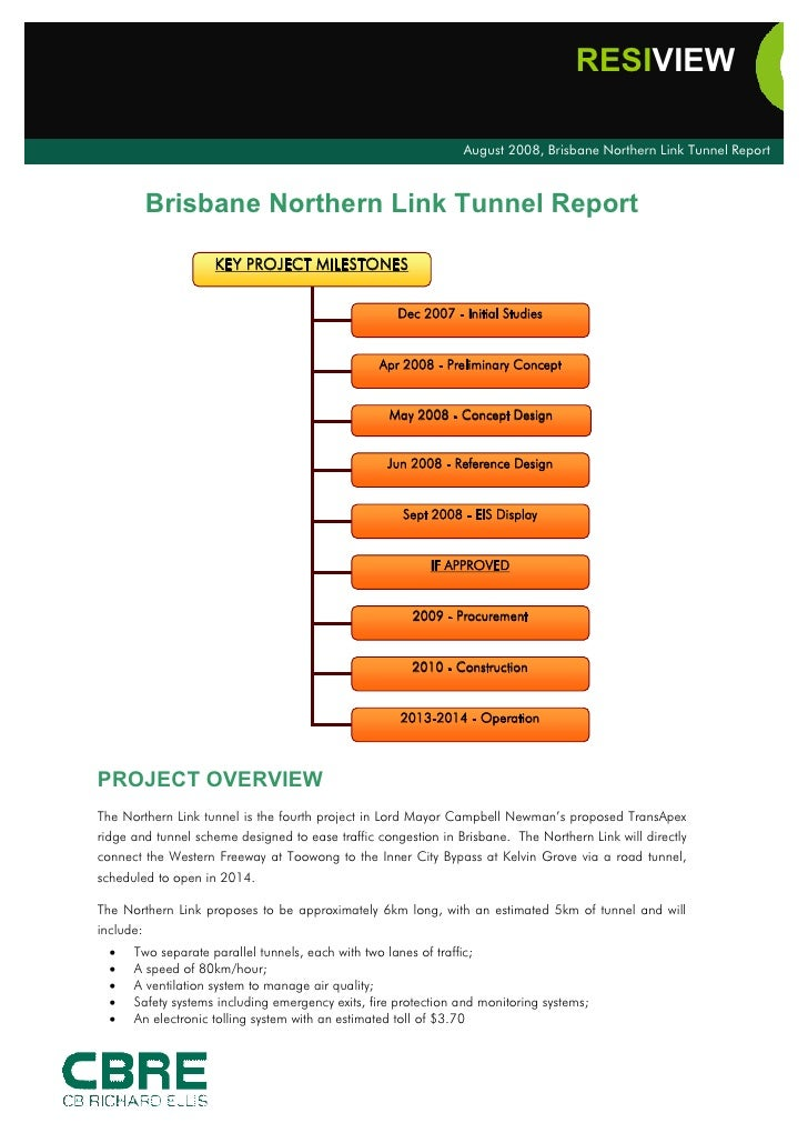 808 Qld Resi View Brisbane Northern Link Tunnel Report