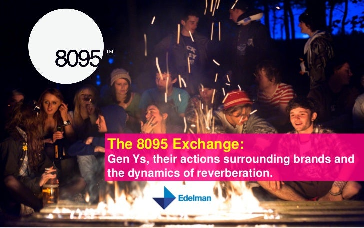 The 8095 Exchange:Gen Ys, their actions surrounding brands andthe dynamics of reverberation.