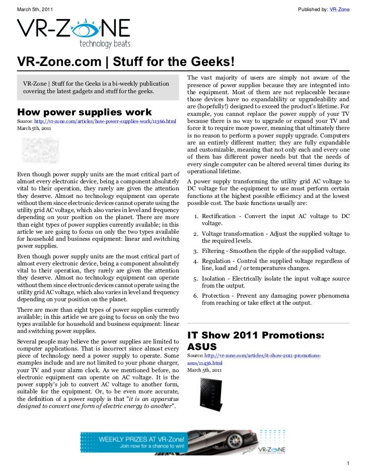 VR-Zone Technology News | Stuff for the Geeks! Issue #9