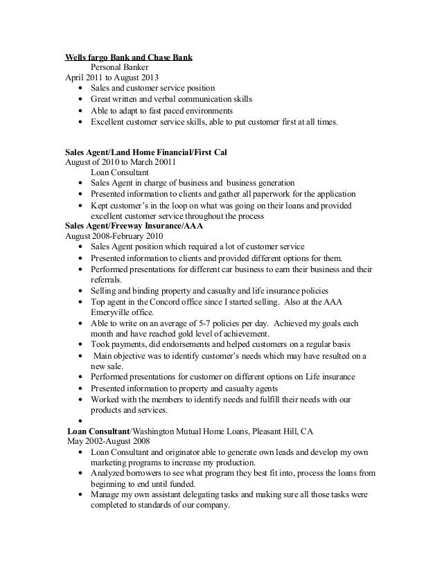 personal banker job description. personal banker resume sample ...