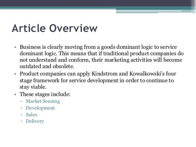 Business article review
