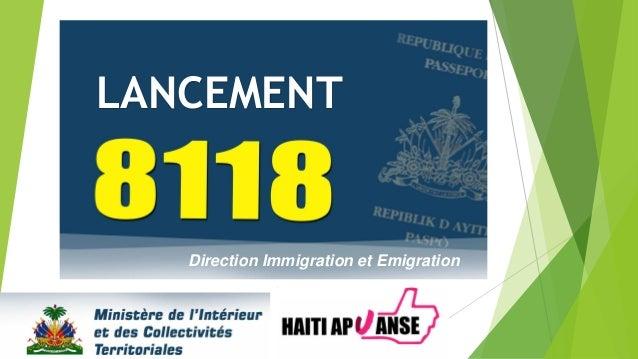 Direction Immigration et Emigration LANCEMENT