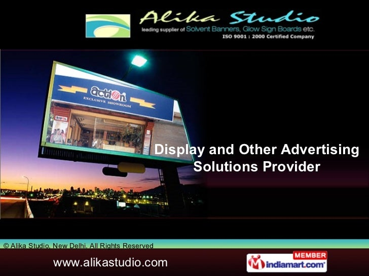 Display and Other Advertising Solutions Provider