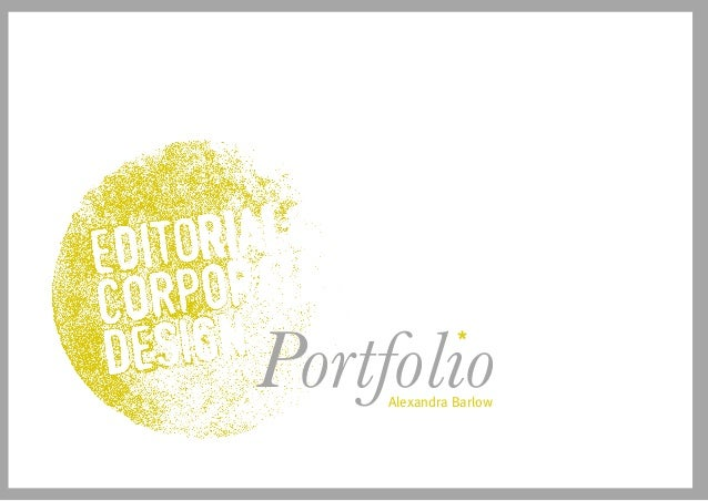 Alexandra Barlow Portfolio*