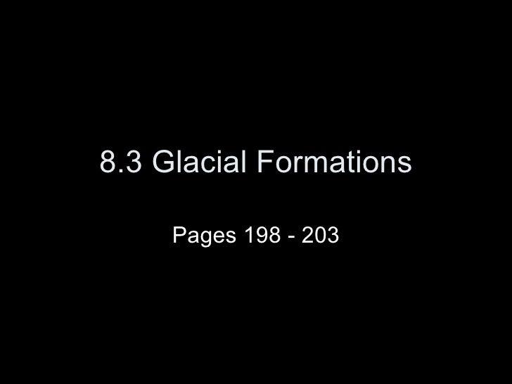 8.3 Glaciers