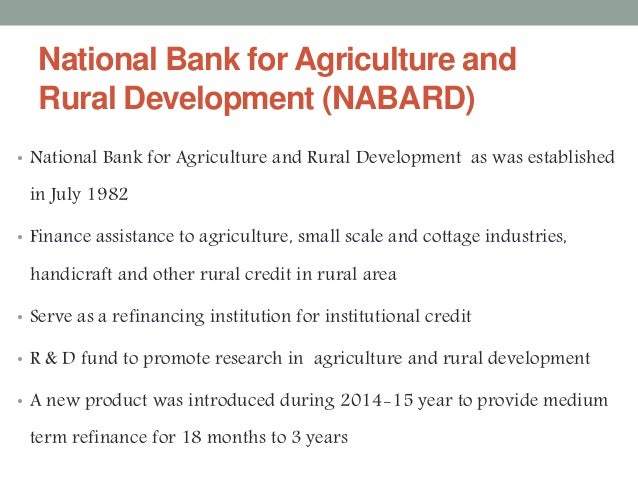 role of cooperative banks in rural development The nigerian agricultural cooperative and rural development bank (nacrdb )  moreover, since nacrdb ltd still remained the most important government.