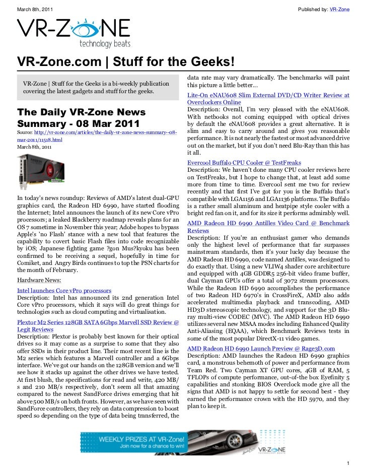 VR-Zone Technology News   Stuff for the Geeks! Issue #10