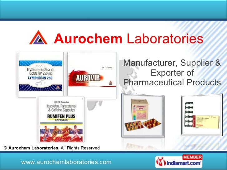 Manufacturer, Supplier & Exporter of Pharmaceutical Products ©  Aurochem Laboratories , All Rights Reserved  www.aurocheml...