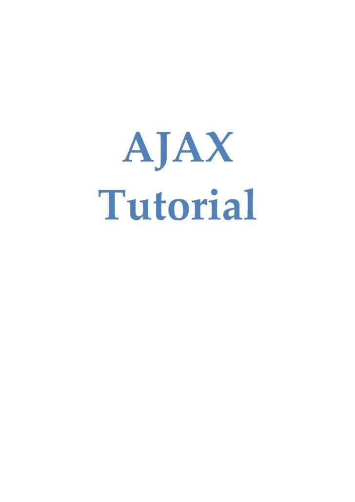 8159540 Tutorial De Ajax