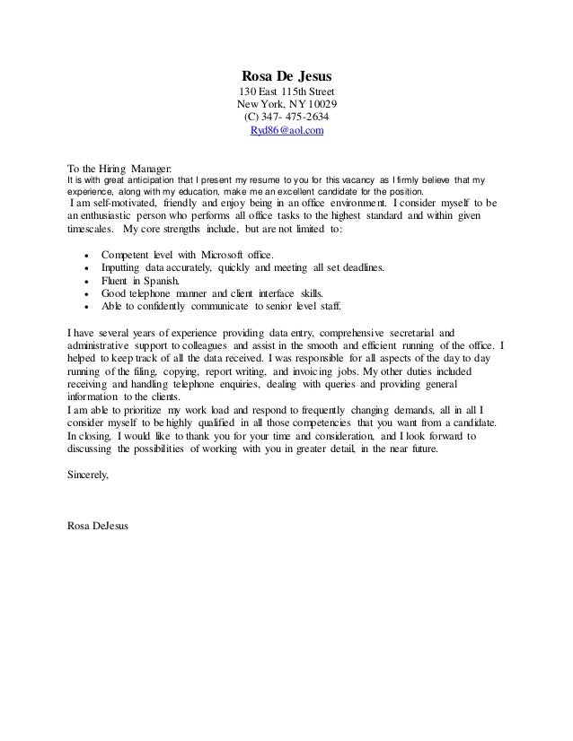 green card cover letters