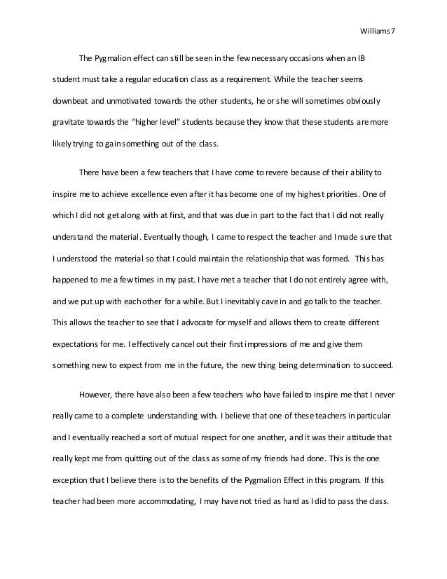 pygmalion essay thesis