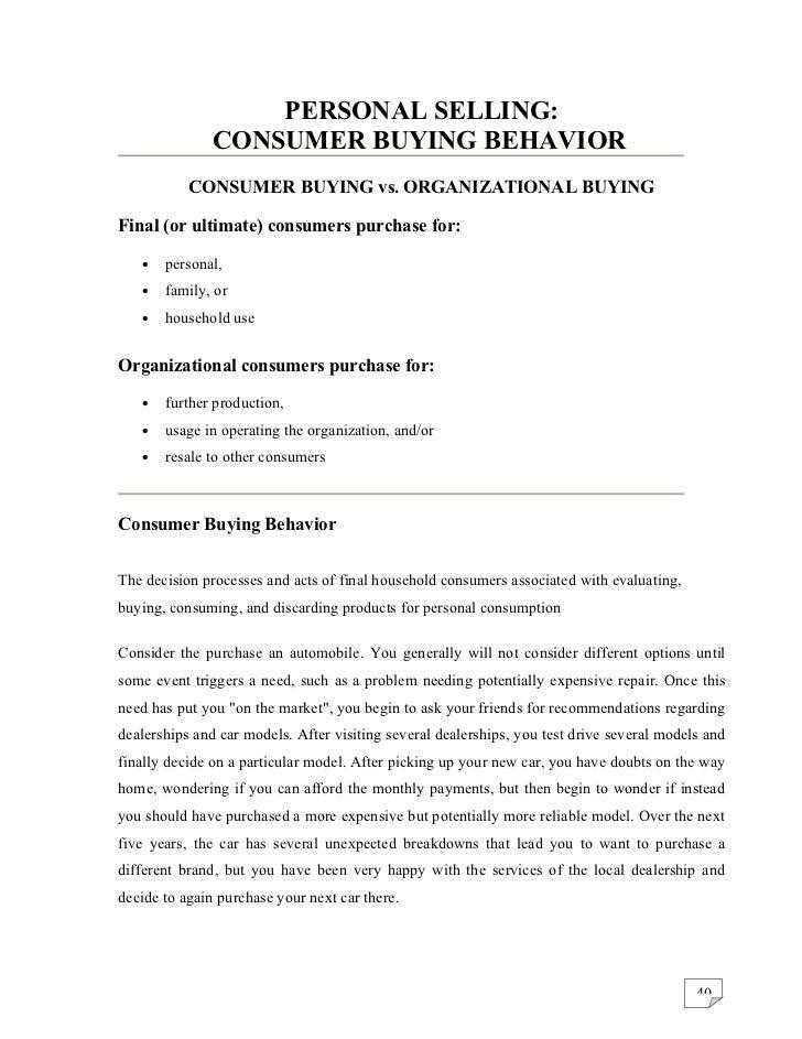 Literature review car buying behavior