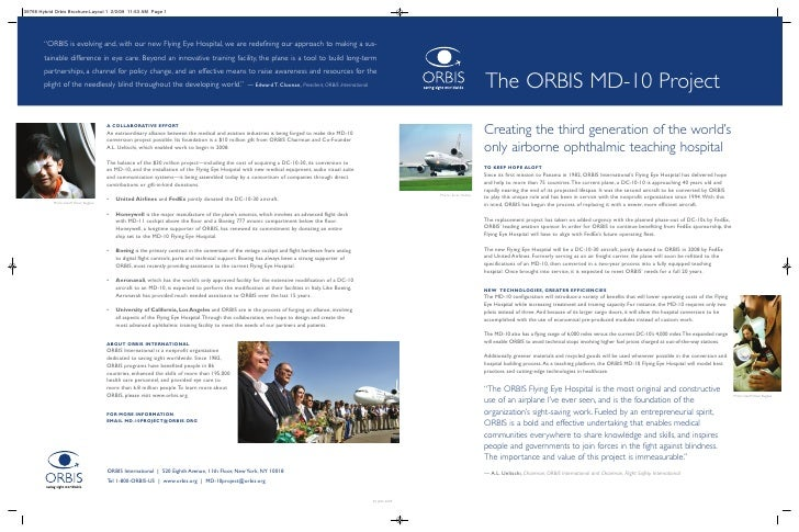 ORBIS Launches MD-10 Flying Eye Hospital Project