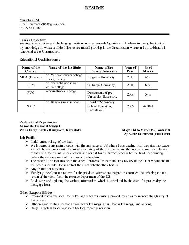 career objective for financial analyst resume examples qa analyst ...