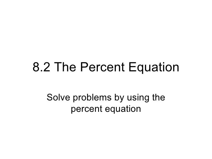 how to solve different percentage equations