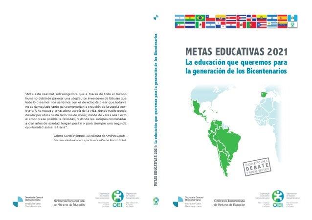 Conferencia Iberoamericana de Ministros de Educación La educación que queremos para la generación de los Bicentenarios DOC...