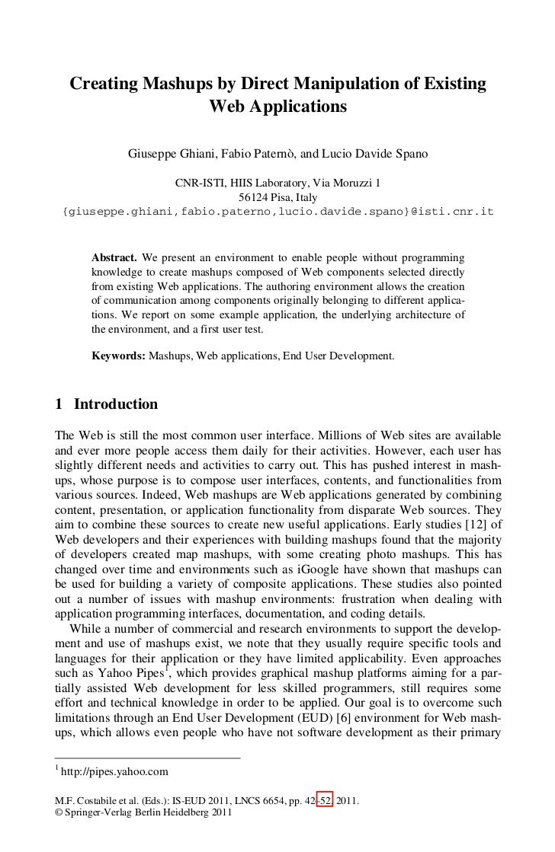 SMARCOS CNR  Paper Mashups