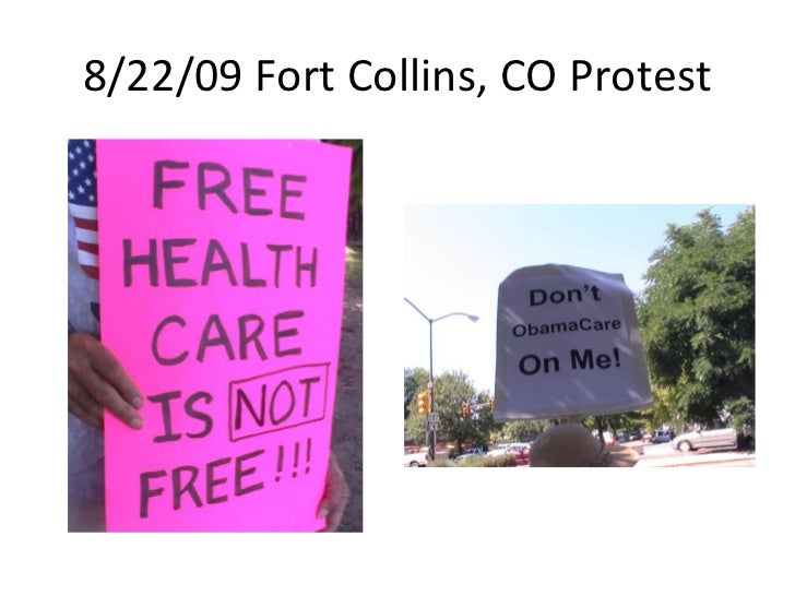 8/22/09 Fort Collins, CO Protest