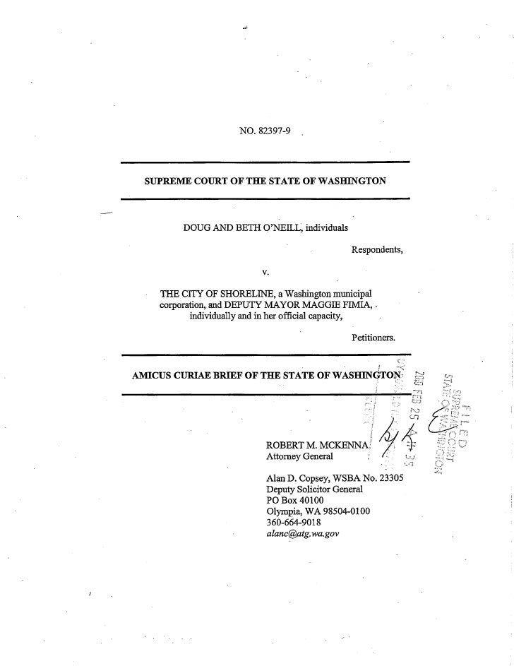 823979 Wa State Amicus Brief Supreme Court Public Records Email Metadata
