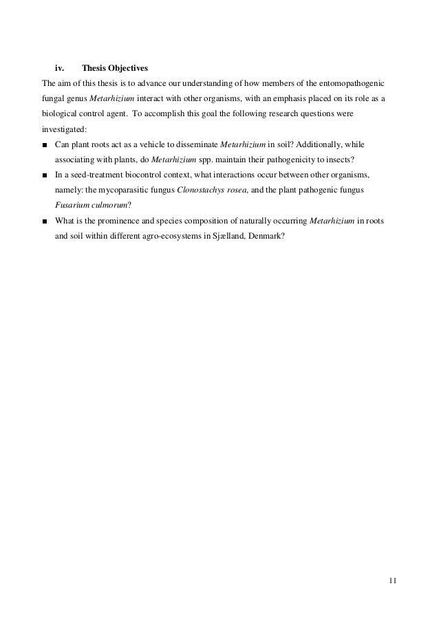 Phd Dissertation Objectives