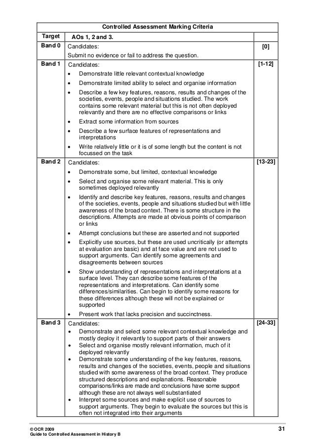 ocr gcse history coursework History gcse history gcse examining board: ocr examining board: ocr preparation for the use of sources in their history around us coursework topic.
