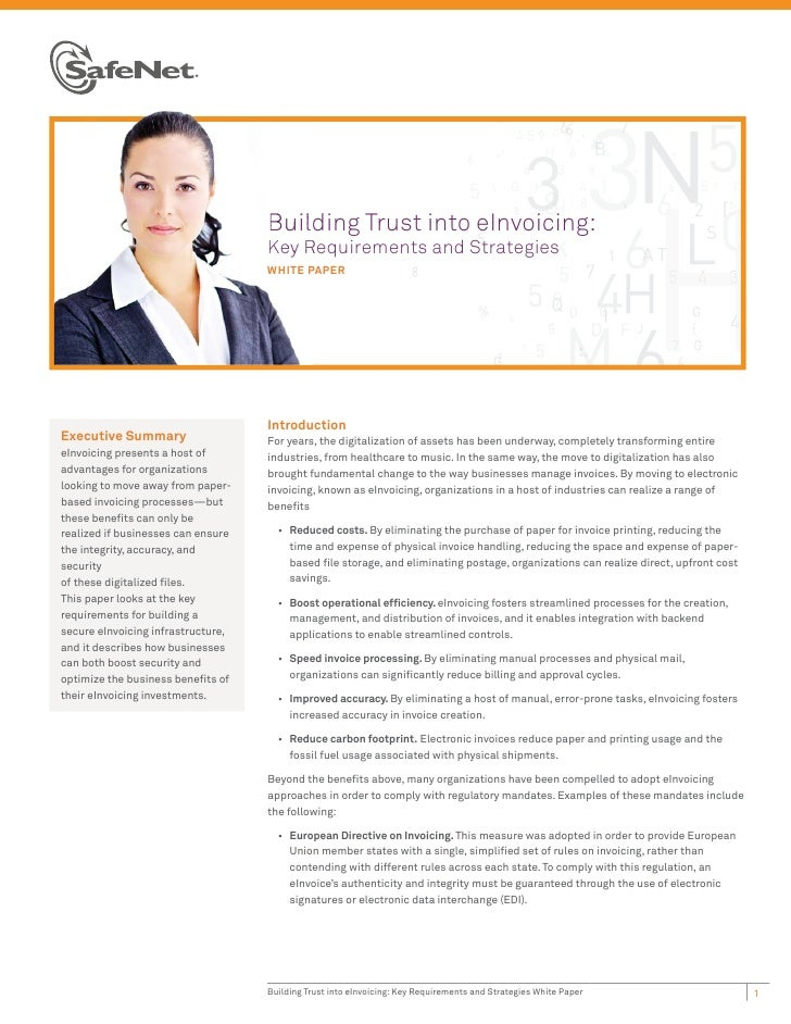 Buil                                    Building Trust into eInvoicing:                                    Key Requirement...