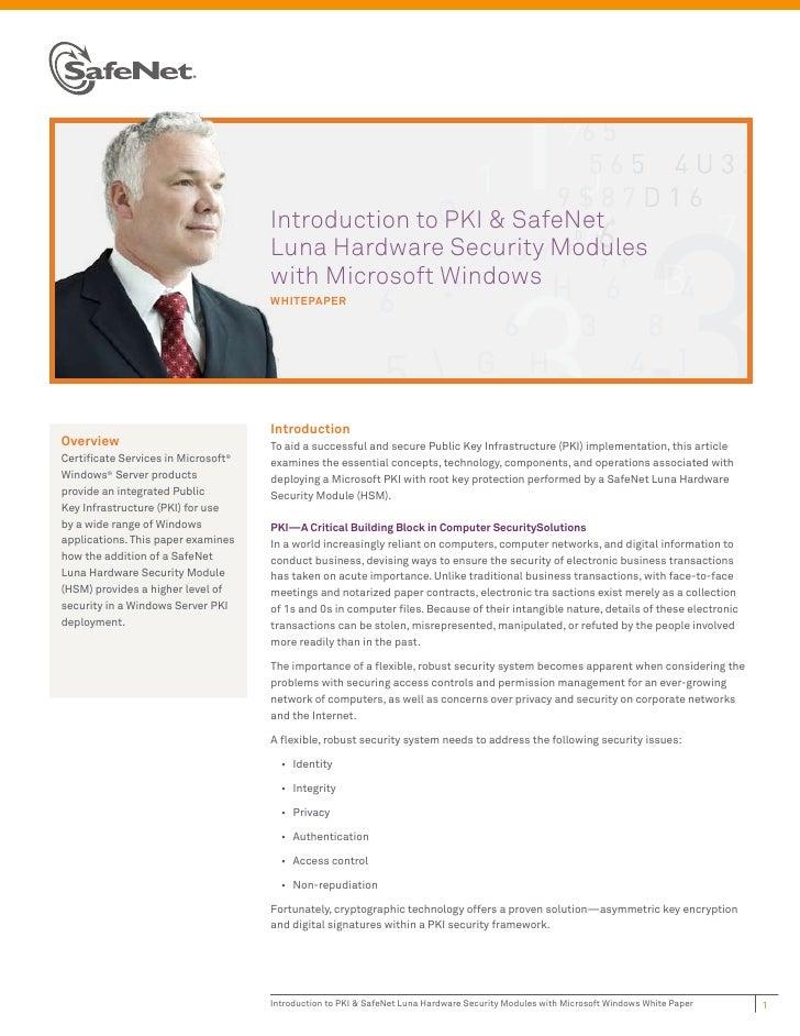 Introduction to PKI & SafeNet                                     Luna Hardware Security Modules                          ...
