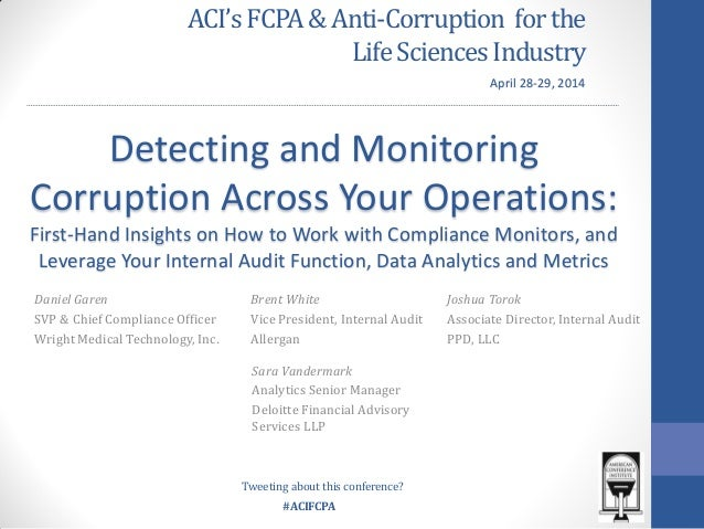 Detecting and Monitoring: Corruption Across your Operations