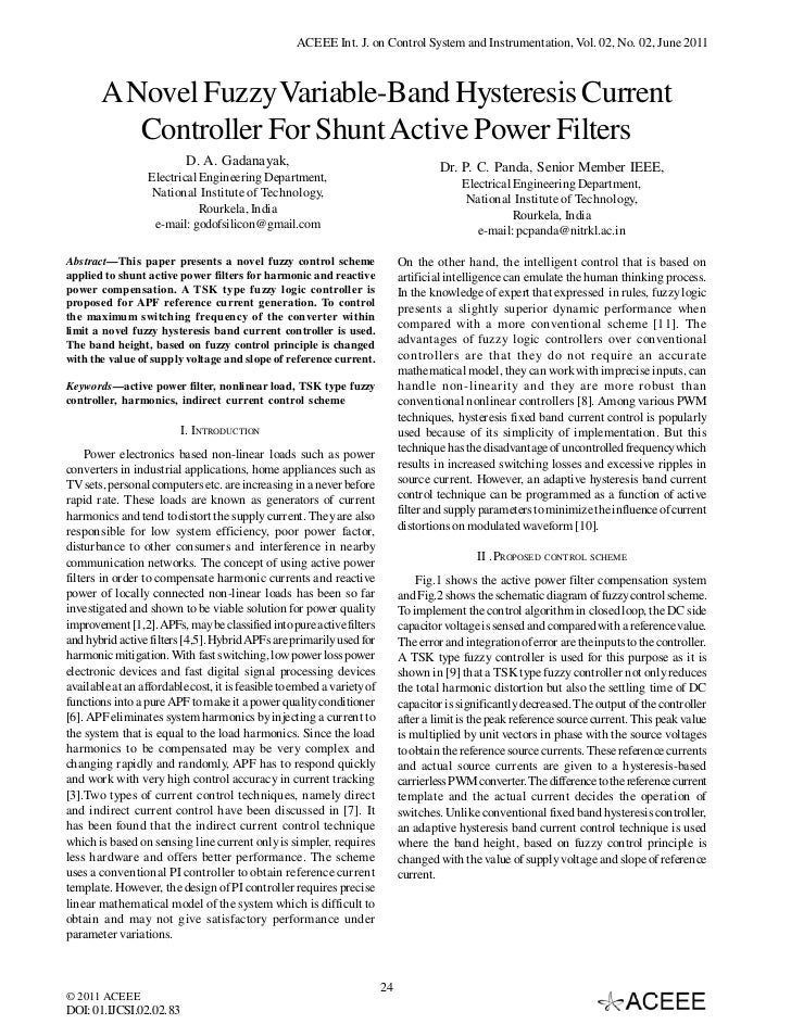 A Novel Fuzzy Variable-Band Hysteresis Current Controller For Shunt Active Power Filters
