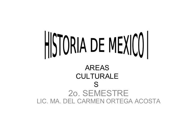 2o. SEMESTRE LIC. MA. DEL CARMEN ORTEGA ACOSTA AREAS CULTURALES