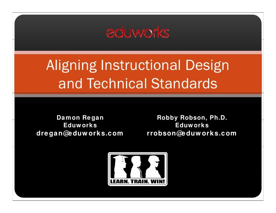 Aligning Instructional Design and Technical Standards