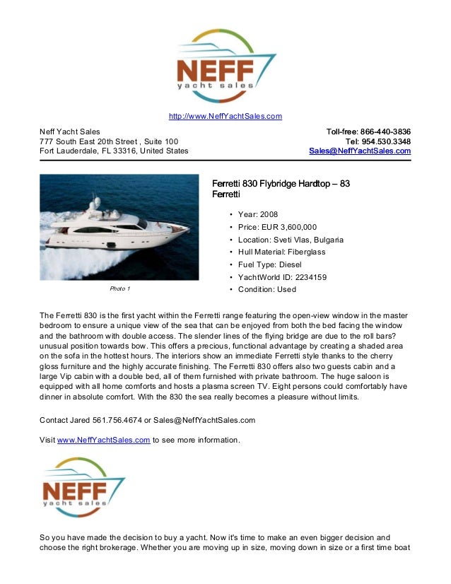83' 2008 ferretti 830 flybridge hardtop yacht for sale   neff yacht sales