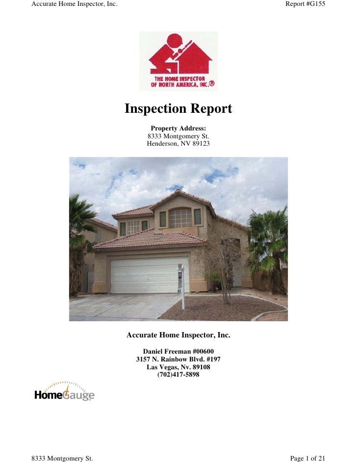 Accurate Home Inspector, Inc.                                   Report #G155                                Inspection Rep...
