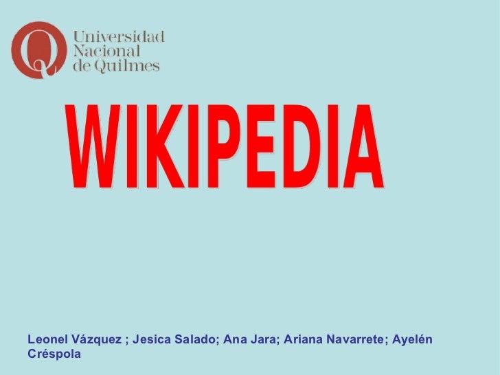 Leonel Vázquez ; Jesica Salado; Ana Jara; Ariana Navarrete; Ayelén Créspola