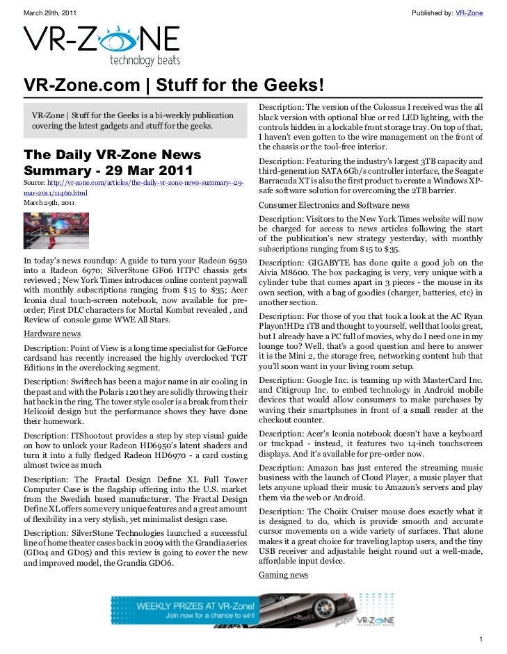 VR-Zone Technology News | Stuff for the Geeks! Issue #16