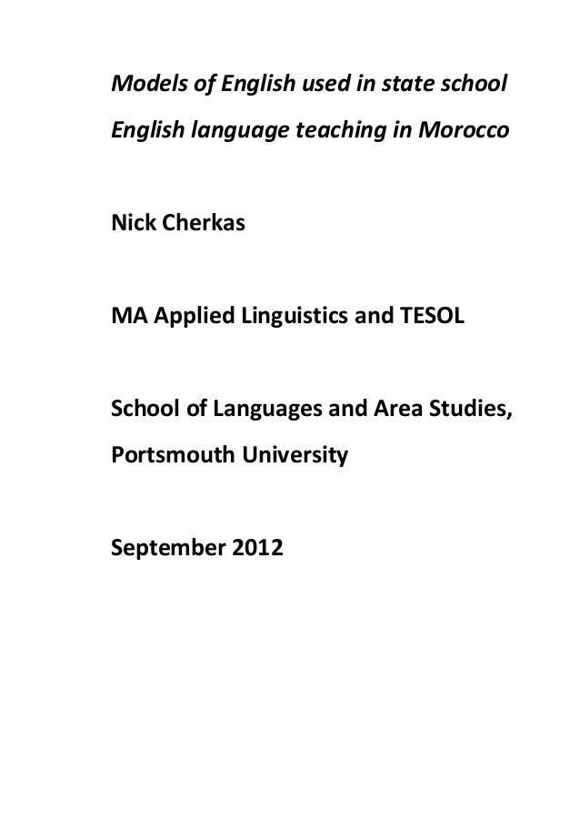 Dissertation teaching english