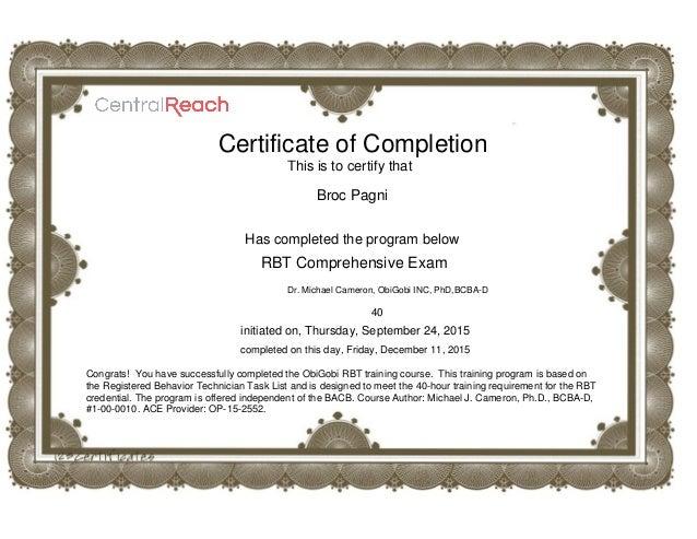 Registered Behavior Technician RBT 40hr Course 97 - mandegar.info
