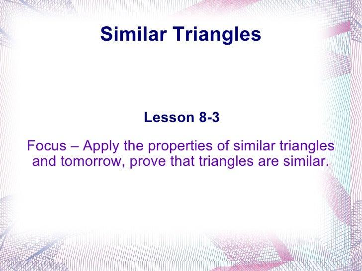 8 3 Similar Triangles