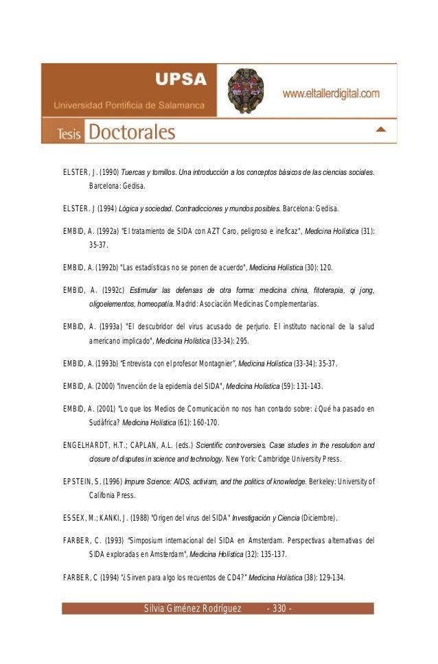 Silvia Giménez Rodríguez - 330 - ELSTER, J. (1990) Tuercas y tornillos. Una introducción a los conceptos básicos de las ci...