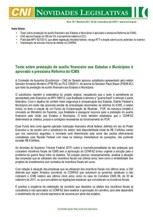 Novidades Legislativas Nº84 | 12/11/2013