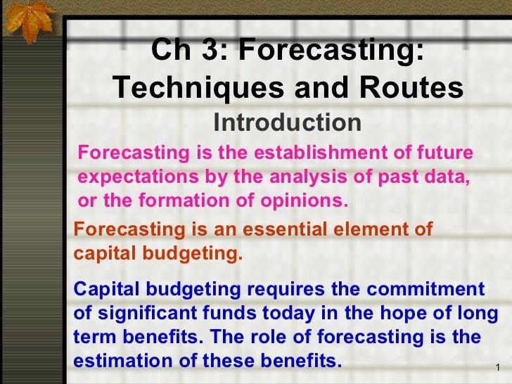 841 ch3 forecasting
