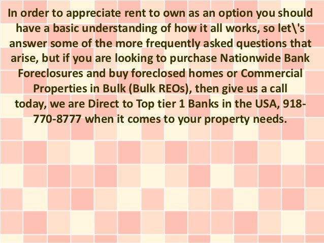 In order to appreciate rent to own as an option you should  have a basic understanding of how it all works, so letsanswer ...