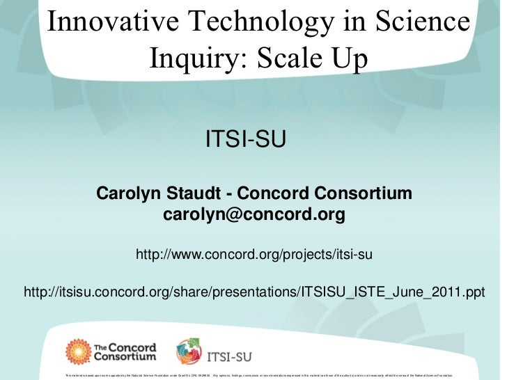 Innovative Technology in Science           Inquiry: Scale Up                                                              ...