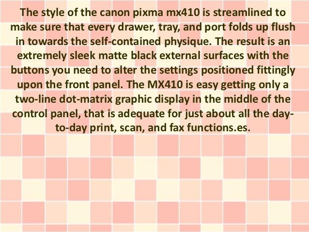 Canon Pixma MX410 Assessment