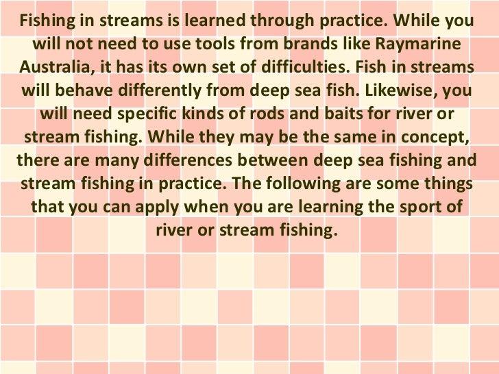 Stream Fishing Pointers